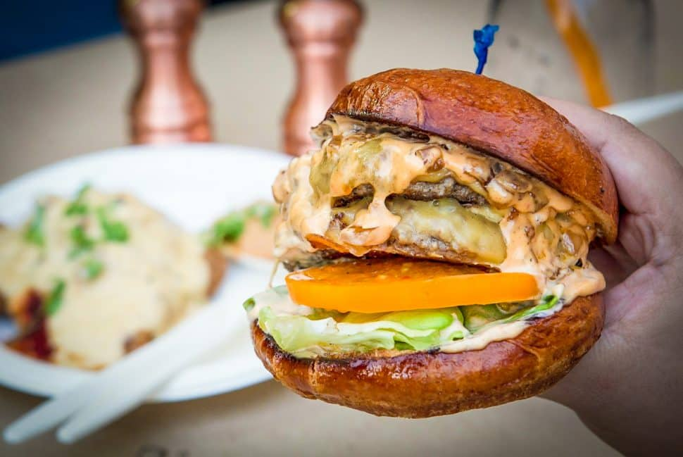 The Piedmont Burger at Prime by Shenandoah. Courtesy of Edwin Goei/OC Weekly.