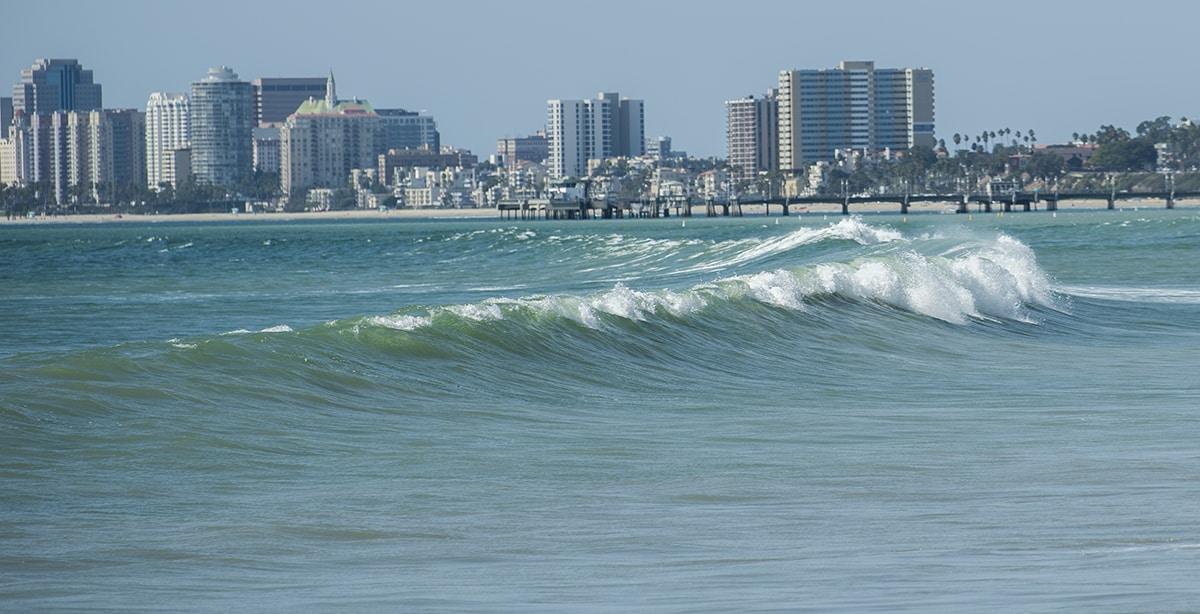 High Surf To Long Beach