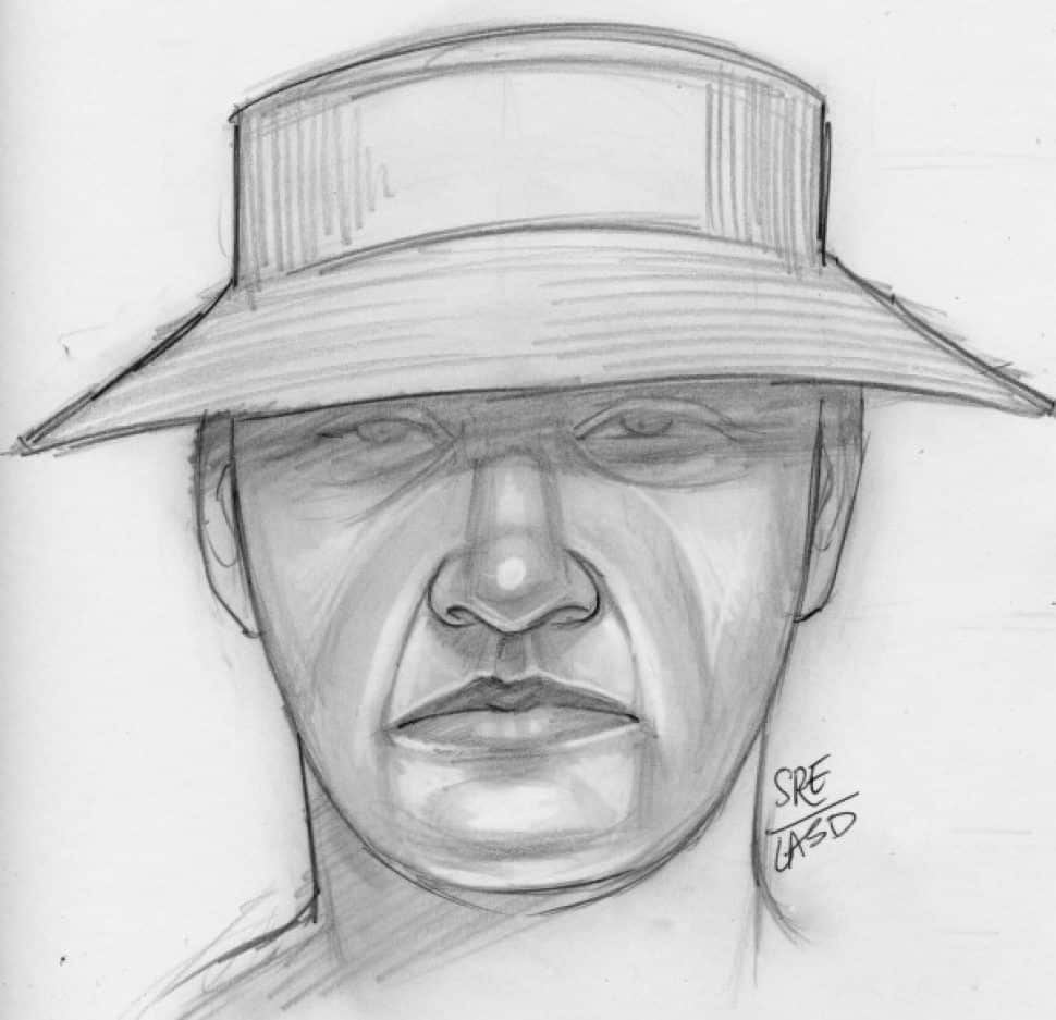 A composite sketch of the gunman who killed 57-year-old Fred Taft in a Pan American Park bathroom on July 21, 2018. Photo courtesy LBPD.