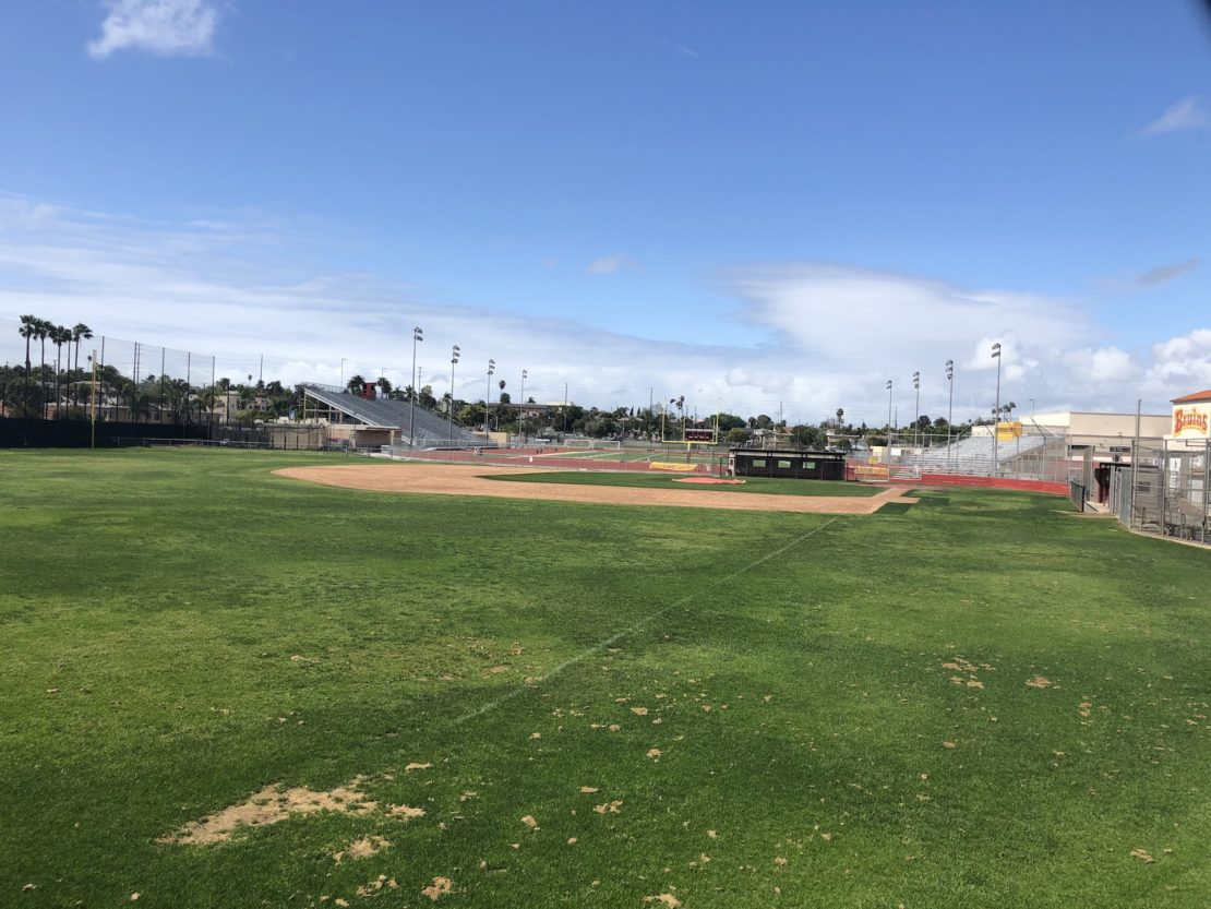 Empty athletic fields at Wilson. Photo by Mike Guardabascio.