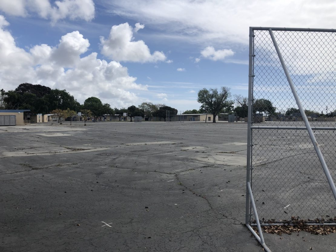 The quad at Prisk Elementary. Photo by Mike Guardabascio.