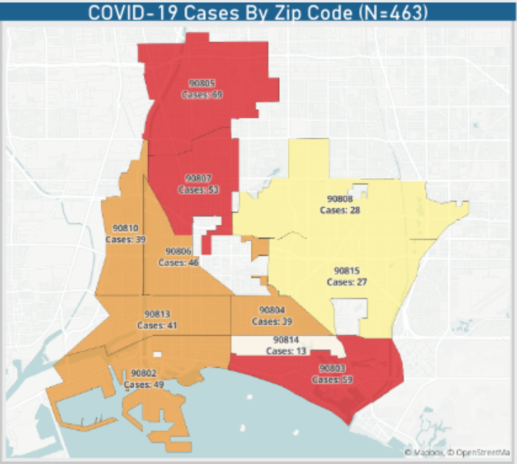 COVID-19 case map