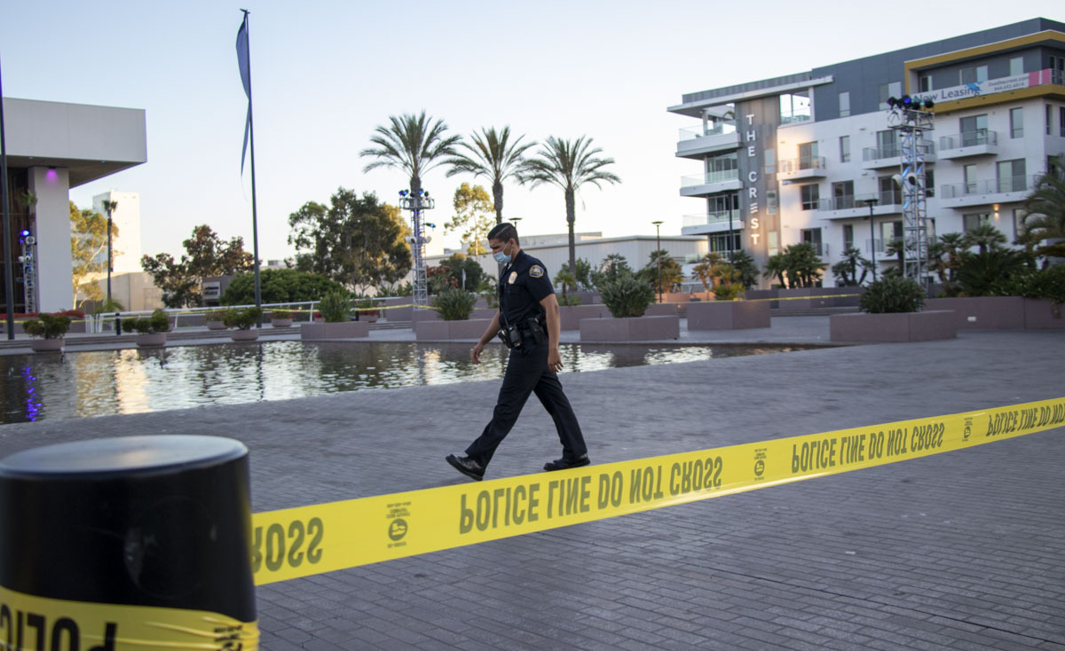 Man found dead in fountain outside Terrace Theatre; overdose suspected • Long Beach Post News