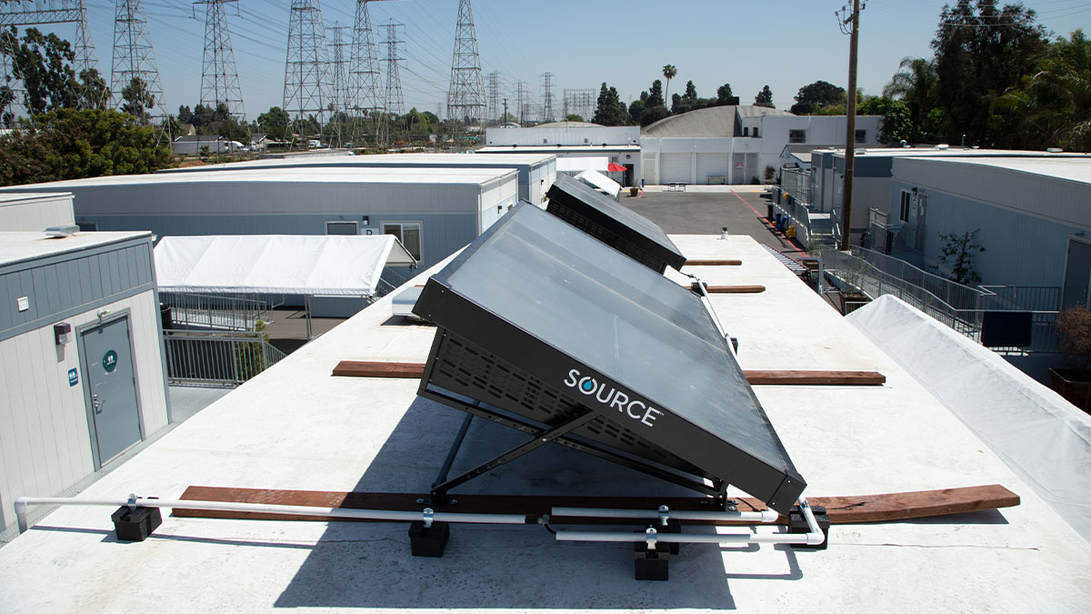 Water-generating solar panels bring clean drinking water to North Long Beach housing community