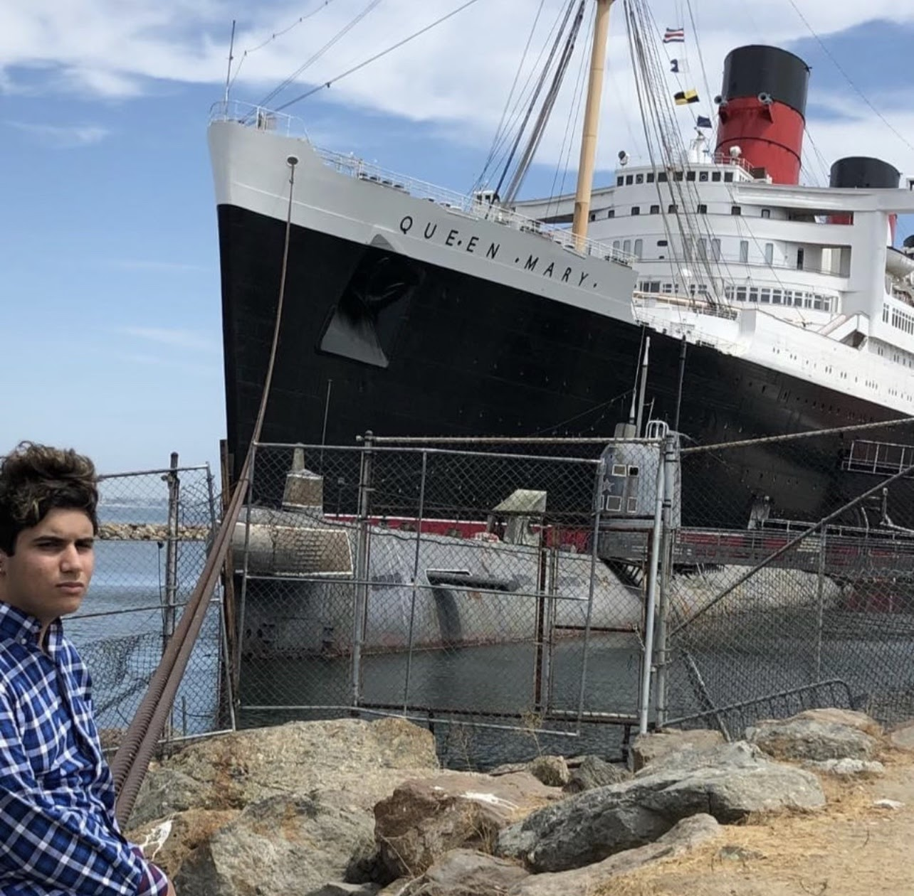 Milad Shafieezad, 19, was one of many people who lost hotel deposits on the Queen Mary in the bankruptcy. Photo from Shafieezad.