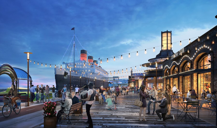 A rendering of Queen Mary Island unveiled in 2017. Courtesy of Urban Commons.
