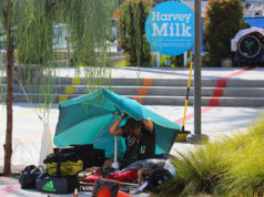 Homeless Person Harvey Milk Park