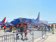 Southwest Airlines Plane at Long Beach Airport